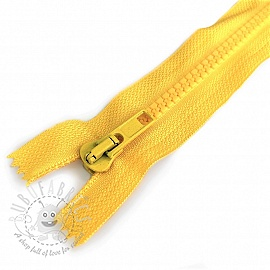 Plastic Jacket Zipper 20 cm yellow