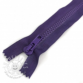 Plastic Jacket Zipper open-end 40 cm purple