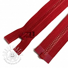 Plastic Jacket Zipper open-end 68 cm red