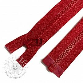 Plastic Jacket Zipper open-end 68 cm red