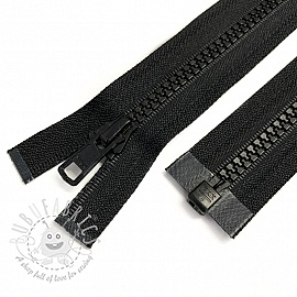 Plastic Jacket Zipper open-end 72 cm black