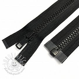 Plastic Jacket Zipper open-end 74 cm black