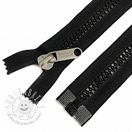 Plastic Jacket Zipper open-end 78 cm black