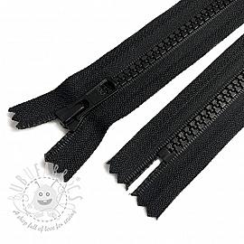 Plastic Jacket Zipper Two Sliders 100 cm black