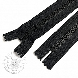 Plastic Jacket Zipper Two Sliders 70 cm black