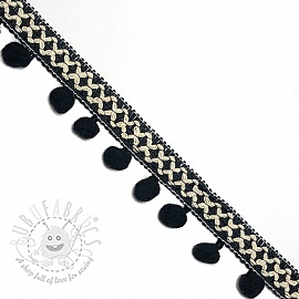 Pom pom CROSS black