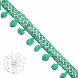 Pom pom CROSS mint