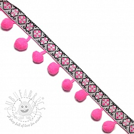 Pom pom JACQUARD bright pink