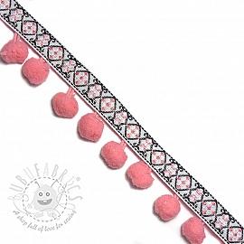 Pom pom JACQUARD soft pink