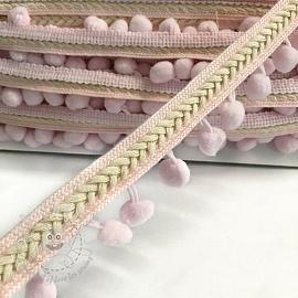 Pom pom Herringbone light pink