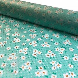 Raincoat fabric Rainy daisy