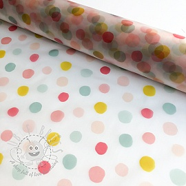 Raincoat fabric Rainy dots fuchsia