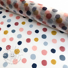 Raincoat fabric Rainy dots jeans