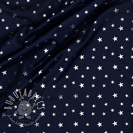 Raincoat fabric Star navy