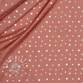 Raincoat fabric Star old rose
