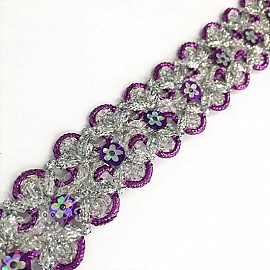 Ribbons Sequin purple