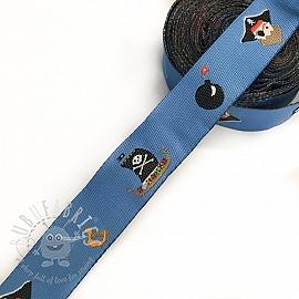 Ribbons Bomb blue