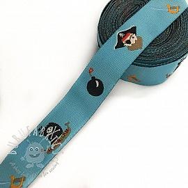 Ribbons Bomb light blue