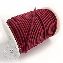 Round elastic 5 mm aubergine
