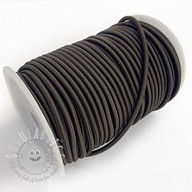 Round elastic 5 mm choco