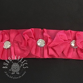 Satin ribbons Crystal fuchsia