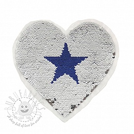 Sequins reversible Big heart stars