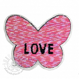 Sequins reversible Butterfly love