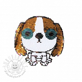 Sequins reversible Doggy gold
