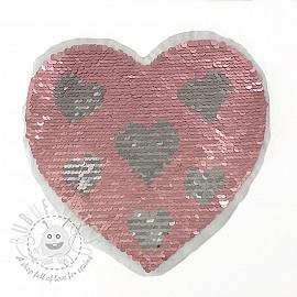 Sequins reversible Heart in heart