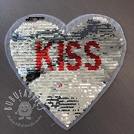 Sequins reversible Heart kiss