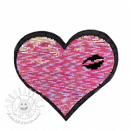 Sequins reversible Heart lips