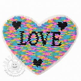 Sequins reversible Heart Love