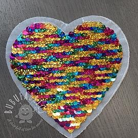 Sequins reversible Heart mini multicolor