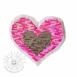 Sequins reversible Heart mini pastel pink
