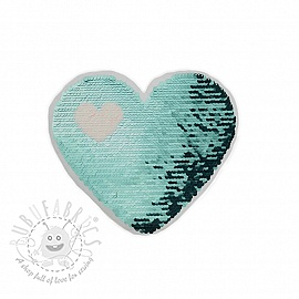 Sequins reversible Love is in the air blue