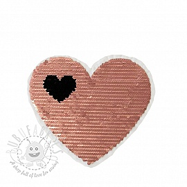 Sequins reversible Love is in the air rose
