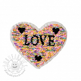 Sequins reversible Lovely heart pastel