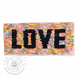 Sequins reversible Rectangle love