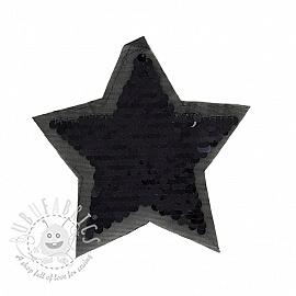 Sequins reversible Star mini black