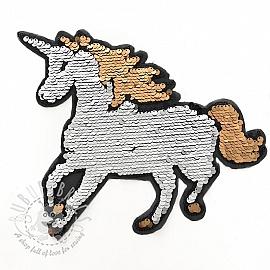 Sequins reversible Unicorn silver
