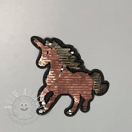 Sequins reversible Unicorn SMALL old rose
