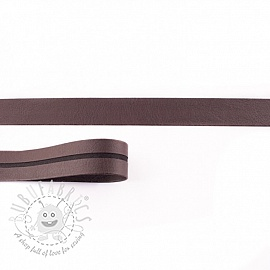 Bias binding imitation leather chocolate