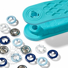 Snap fasteners JERSEY Prym Love 8mm blue
