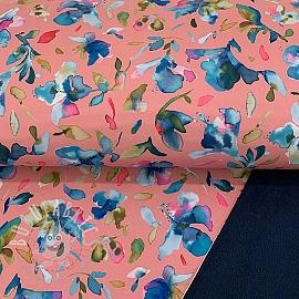 Softshell Hibuscus rosa digital print