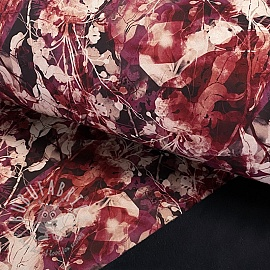 Softshell Magical flowers berry digital print
