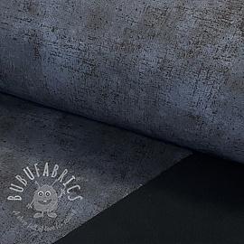 Softshell Raw texture dark grey digital print