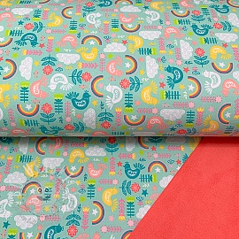 Softshell Shine bright like the rainbow aqua digital print