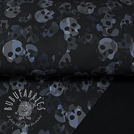 Softshell Skull camo grey digital print