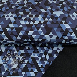 Softshell Triangle camo blue digital print