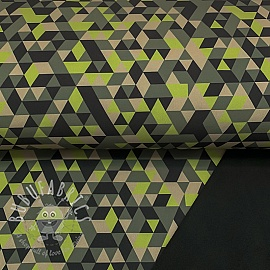 Softshell Triangle camo green digital print